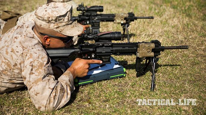 Division Combat Skills Center's Designated Marksman Course Marines