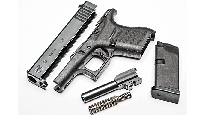 Glock 43 pistol GWLE June 2015 parts