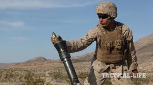 U.S. Marines Desert Scimitar mortar