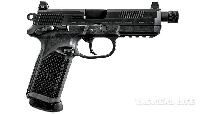Suppressor-ready pistols SWMP July 2015 FNX-45 Tactical