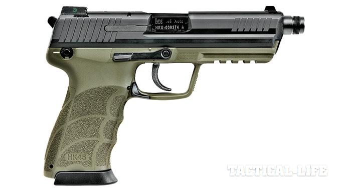 Suppressor-ready pistols SWMP July 2015 HK45 Tactical