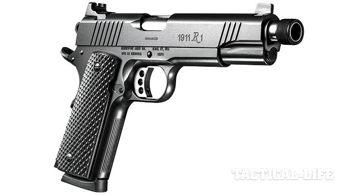 Suppressor-ready pistols SWMP July 2015 Remington 1911 R1 Enhanced Threaded Barrel
