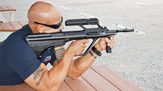 Steyr Arms AUG/A3 M1 Bullpup TW August 2015 range
