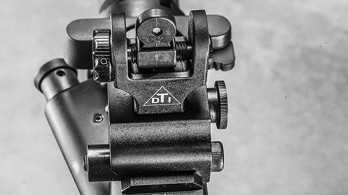 Del-Ton Evolution Rifle CBG 2016 rear sights