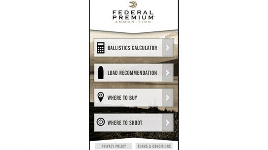 Federal Premium Ammunition Mobile Ballistics App