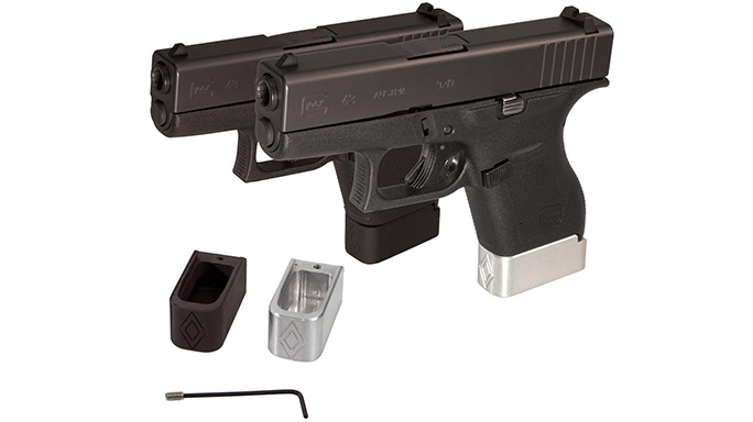 GlockStore Double Diamond Glock 43 Magazine Extensions G43