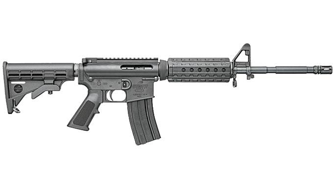 GWLE August 2015 AR-15 Rifles Under $1,000 Bushmaster Carbon-15 M4 Quad Rail