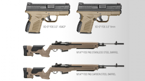 Springfield Armory Flat Dark Earth XD-S Pistol M1A Rifle