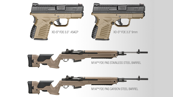 Springfield Armory Adds Flat Dark Earth to XD-S Pistol, M1A