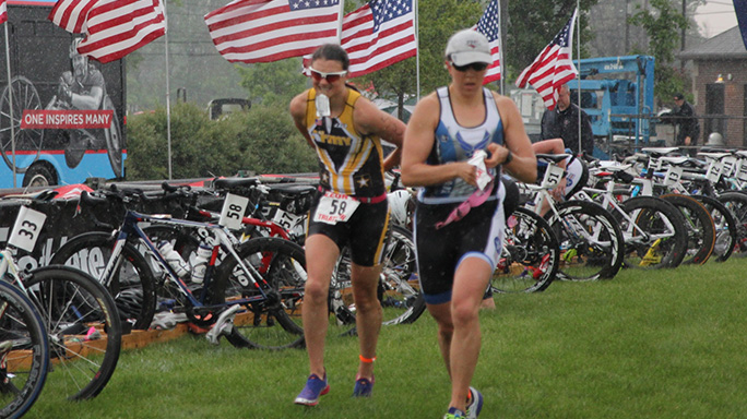 2015 Armed Forces Triathlon U.S. Army women
