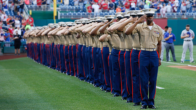 Washington Nationals Marine Corps Day 2015