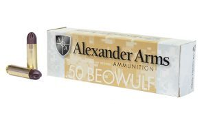 PolyCase Ammo Alexander Arms .50 Beowulf ARX Ammo