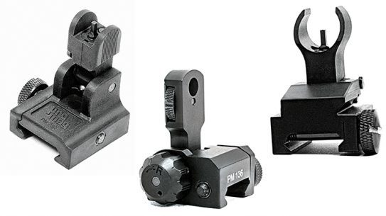 Black Guns 2016 iron sights Promag AR-15/M16 Flip Ups