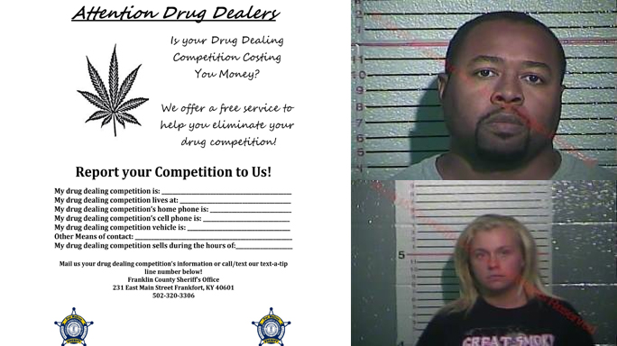 Drug Dealer Flyer Franklin County Kentucky
