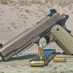 Kimber 1911 Warrior Pistols right brown