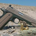 Kimber 1911 Warrior Pistols left green