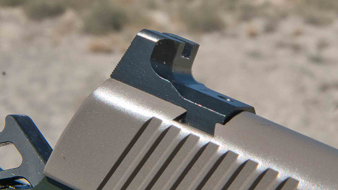 Kimber 1911 Warrior Pistols rear sight