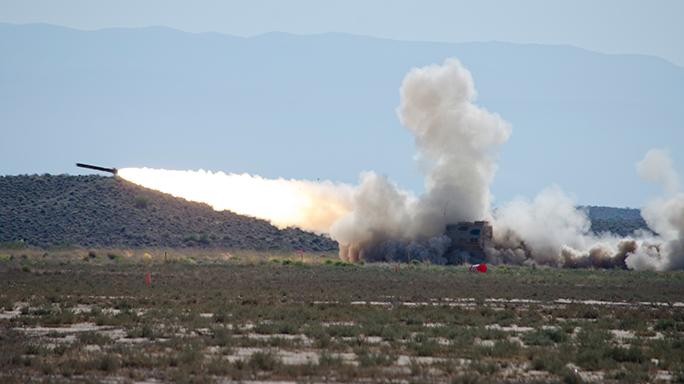 U.S. Army M270A1 test