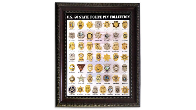 Maxsell 50 State Police Badge Collection