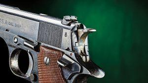Star Modelo B Pistol rear sight