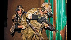 Army Rangers from the U.S. special forces cleared a Taliban compound in Afghanistan.