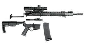 Black Dawn Armory BDR-556-3GLW apart