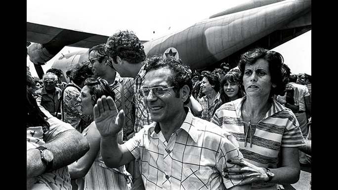 Hostages in Entebbe celebrated their freedom.