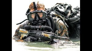Here is a member of the USMC special forces division.