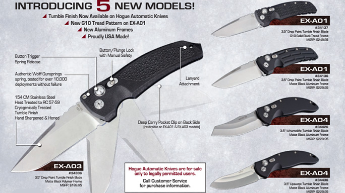 Hogue Adds Five New Models to Automatic Folder Series