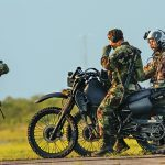 The most commonly used motorcycle vehicles in the U.S. military are the KawasakiKLR 250-D8, Kawasaki M1030 and the Christini all-wheel-drive bikes.