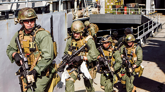 The Marines' Force Recon Platoon is trained to handle pirates like the ones who hijacked the Morning Glory tanker.