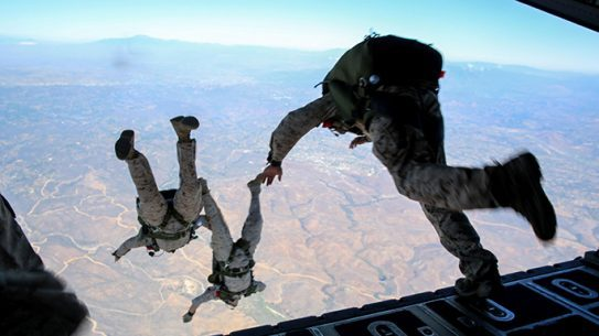 Marines Force Reconnaissance Company parachute training 2015