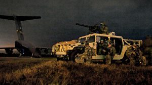 U.S. Rangers traveled in modified Humvees to capture Haditha Dam in Iraq.