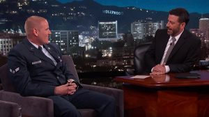 US Airman Spencer Stone Appears on Jimmy Kimmel