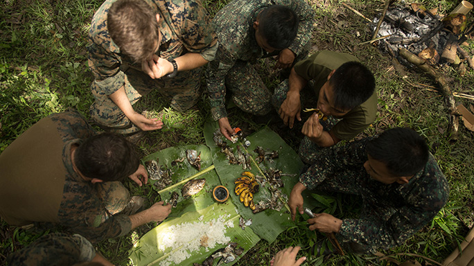 U.S. Recon Marines Philippine Jungle Environment Survival Training