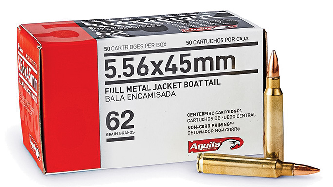 Aguila 62-grain 5.56mm FMJ