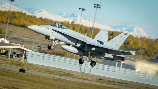 Navy F-18 Hornets dissimilar air-combat training