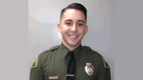 California National Guard Pfc. Jesse Hernandez