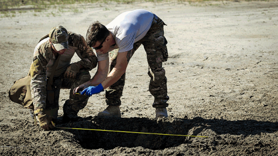 EOD Airmen Post-Blast Analysis Training