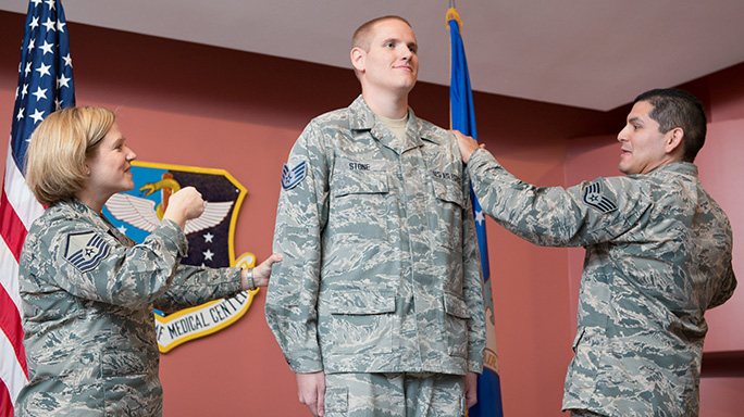 Spencer Stone Promoted Senior Airman
