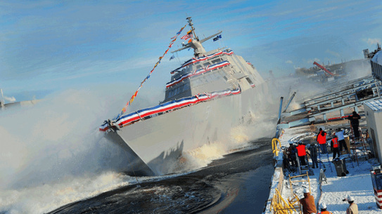 Littoral Combat Ship USS Milwaukee Full Speed