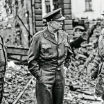 US Generals Bradley, Eisenhower and Patton.