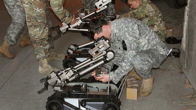 U.S. Army CBRNE PackBot 510 robot