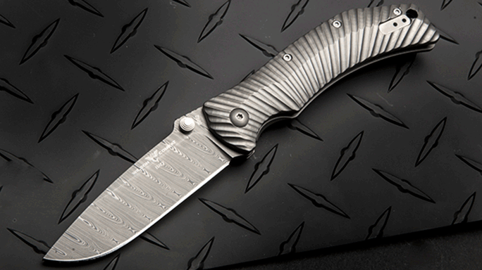 Wilson Combat ELC Elite Damasteel Knife titanium
