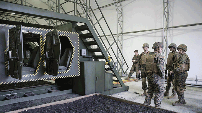 Marines Humvee Rollover Egress Assistance Trainer Class