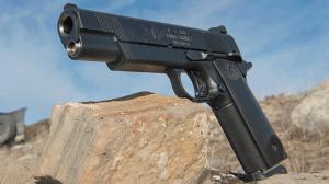 Jesse James Firearms Unlimited Cisco 1911 handgun lead