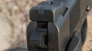 Jesse James Firearms Unlimited Cisco 1911 handgun rear sight