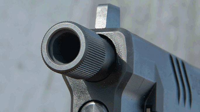 Springfield Armory Threaded Barrel XDM Pistol muzzle