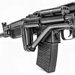 K-VAR VEPR-12 Semi-Auto Shotgun folded