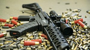 Creative Arms President Bob Folkestad rifle